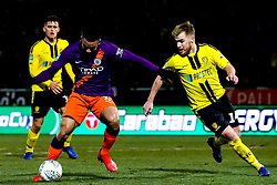 Gabriel Jesus of Manchester City takes on Damien McCrory of Burton Albion - Mandatory by-line: Robbie Stephenson/JMP - 23/01/2019 - FOOTBALL - Pirelli Stadium - Burton upon Trent, England - Burton Albion v Manchester City - Carabao Cup