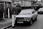 Laul Clements in Palgrave Ave, Southall, UK, 1985.