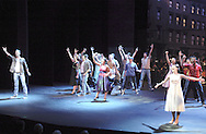 "WSU juniors Eric Byrd (left) and Heidi Gibberson (front right) play the parts of Tony and Maria during the finale of ""West Side Story"" at the 2008 Arts Gala at Wright State University, Saturday, April 5, 2008."