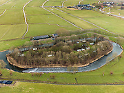Nederland, Utrecht, Gemeente De Ronde Venen, 20-02-2012; Fort aan de Winkel, nooit voltooid, in gebruik als camping.Camping in former fortress Fort aan de Winkel (river), part of the Defense line of Amsterdam...luchtfoto (toeslag), aerial photo (additional fee required);.copyright foto/photo Siebe Swart.
