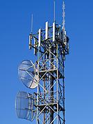 GSM and CDMA cellsite antenna array for the cellular telephone system on a tower - Port Douglas, Australia