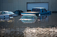 Sept 1, 2017, flooded parking lot in Vidor, Texas. Hurricane Harvey, was downgraded to a tropical storm when it flooded Vidor, Texas and the surrounding area.