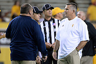 TEMPE, AZ - SEPTEMBER 03:  Head coach Todd Graham of the Arizona State Sun Devils talks with head coach Jerome Souers of the Northern Arizona Lumberjacks prior to the game at Sun Devil Stadium on September 3, 2016 in Tempe, Arizona.  (Photo by Jennifer Stewart/Getty Images)