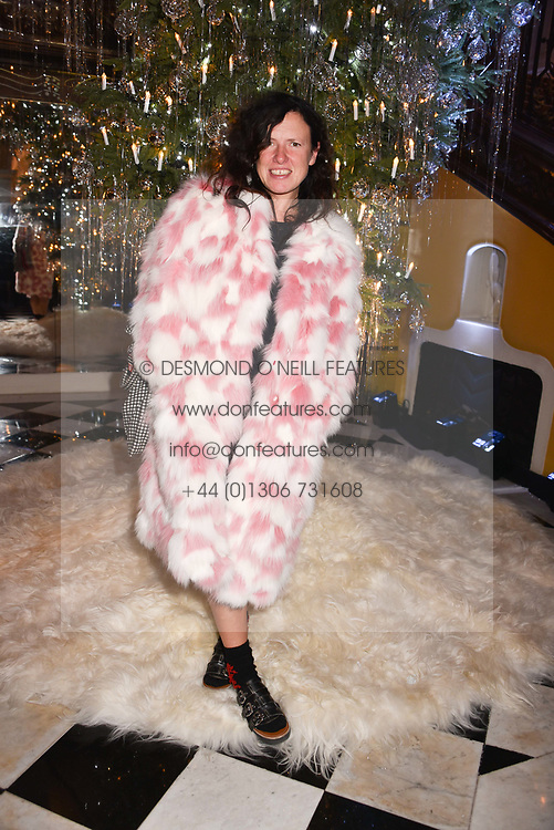 Katie Grand at reception to celebrate the launch of the Claridge's Christmas Tree 2017 at Claridge's Hotel, Brook Street, London England. 28 November 2017.
