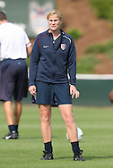 25 April 2008: United States assistant coach Jillian Ellis. The United States Women's National Team held a training session in WakeMed Stadium, formerly SAS Stadium, in Cary, NC.