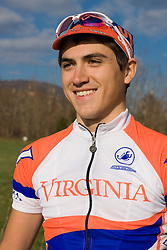 Virginia Cavaliers Stephen DeLisle..Members of the University of Virginia Cycling Team met at Reeds Gap on the Blue Ridge Parkway in Virginia on April 9, 2007 for a team photo shoot.
