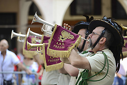 June 2, 2017 - Padua, Italia, Italy - Italian Bersaglieri attend the military parade during the celebrations of the Italian Republic Day on June 2, 2017 in Padua, Italy. (Credit Image: © Roberto Silvino/NurPhoto via ZUMA Press)
