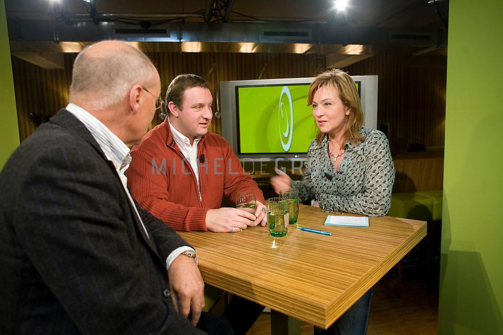 Cunera van Selm tijdens de opnamen van haar nieuwe programma CUNERA bij RTV Noord op February 6, 2007 in Groningen, The Netherlands.