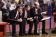 DESCRIZIONE : Venezia campionato serie A 2013/14 Reyer Venezia EA7 Olimpia Milano <br /> GIOCATORE : Luca Banchi Mario Fioretti Massimo Cancellieri<br /> CATEGORIA : allenatore coach<br /> SQUADRA : EA7 Olimpia MIlano<br /> EVENTO : Campionato serie A 2013/14<br /> GARA : Reyer Venezia EA7 Olimpia<br /> DATA : 28/11/2013<br /> SPORT : Pallacanestro <br /> AUTORE : Agenzia Ciamillo-Castoria/A.Scaroni<br /> Galleria : Lega Basket A 2013-2014  <br /> Fotonotizia : Venezia campionato serie A 2013/14 Reyer Venezia EA7 Olimpia  <br /> Predefinita :