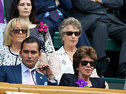 LONDON, ENGLAND - Saturday, July 5, 2014: Virginia Wade during the Ladies' Singles Final match on day twelve of the Wimbledon Lawn Tennis Championships at the All England Lawn Tennis and Croquet Club. (Pic by David Rawcliffe/Propaganda)
