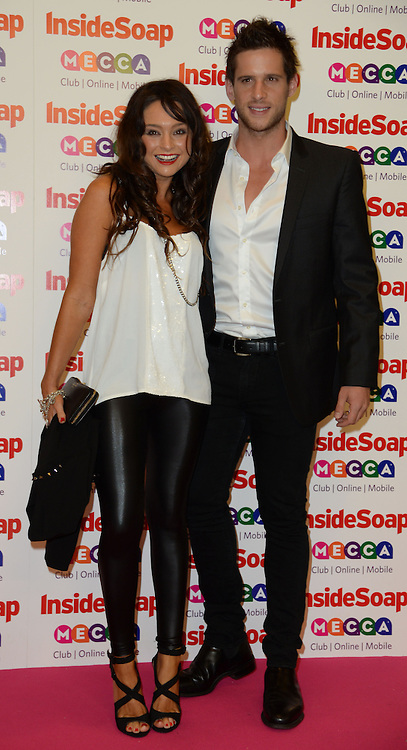 Inside Soap Awards.<br /> Daniel Ewing and guest during the Inside Soap Awards, Ministry of Sound, London, United Kingdom,<br /> Monday, 21st October 2013. Picture by Andrew Parsons / i-Images