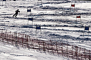"""Schladming, Austria - 2017 March 21: Competition in Alpine Skiing Competition while Special Olympics World Winter Games Austria 2017 on the """"Sepp-Walcher-Downhill"""" (Slope 32) near the """"Tauernalm"""" in Rohrmoos on March 21, 2017 in Schladming, Austria.<br /> <br /> Mandatory credit:<br /> Photo by © Adam Nurkiewicz / Mediasport<br /> <br /> Adam Nurkiewicz declares that he has no rights to the image of people at the photographs of his authorship.<br /> <br /> Picture also available in RAW (NEF) or TIFF format on special request.<br /> <br /> Any editorial, commercial or promotional use requires written permission from the author of image.<br /> <br /> Image can be used in the press when the method of use and the signature does not hurt people on the picture."""