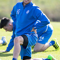 St Johnstone Training….30.09.16<br />Danny Swanson pictured during training this morning<br />Picture by Graeme Hart.<br />Copyright Perthshire Picture Agency<br />Tel: 01738 623350  Mobile: 07990 594431