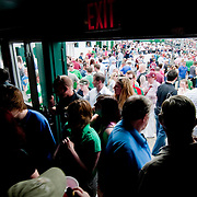May 2, 2010 - Bronx, NY : Spectators pack into the pub during the half. The New York Gaelic Athletic Association  hosted the Galway Tribesmen this past Sunday at Gaelic Field in Riverdale for the opening match of the 2010 Connacht Football Championship. The hosts gave their overseas visitors a ferocious 60 minutes of play before falling 2-13 to 0-12.