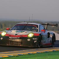 #91, Porsche Motorsport, Porsche 911 RSR (2017), driven by: Richard Lietz, Frederic Makowiecki, Patrick Pilet, 24 Heures Du Mans 85th Edition, 18/06/2017,