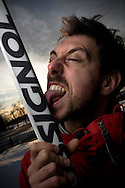 Nicholas Normandin, photographe, en ski à Montréal!