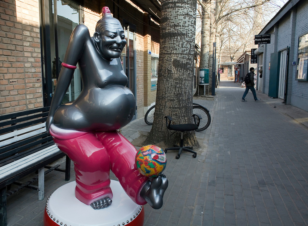 A sculpture on display at the 798 art district in Beijing.