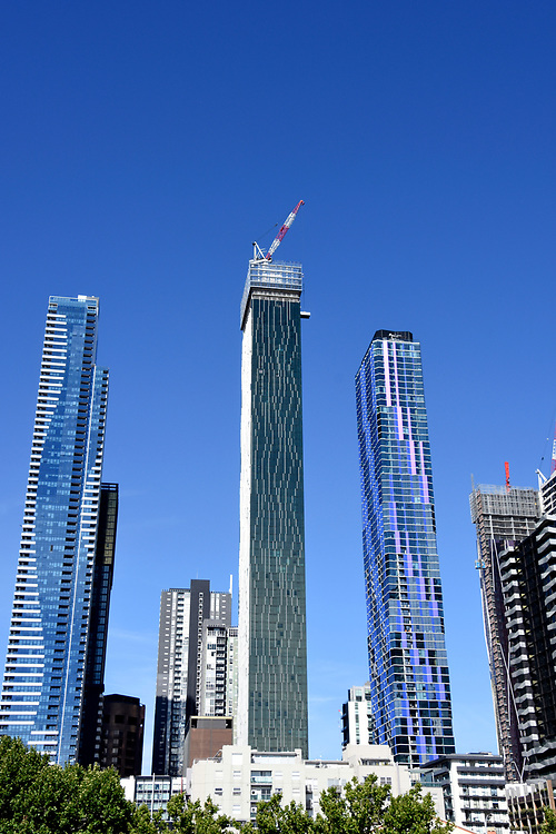 Melbourne City Skyline of Skyscaper builings