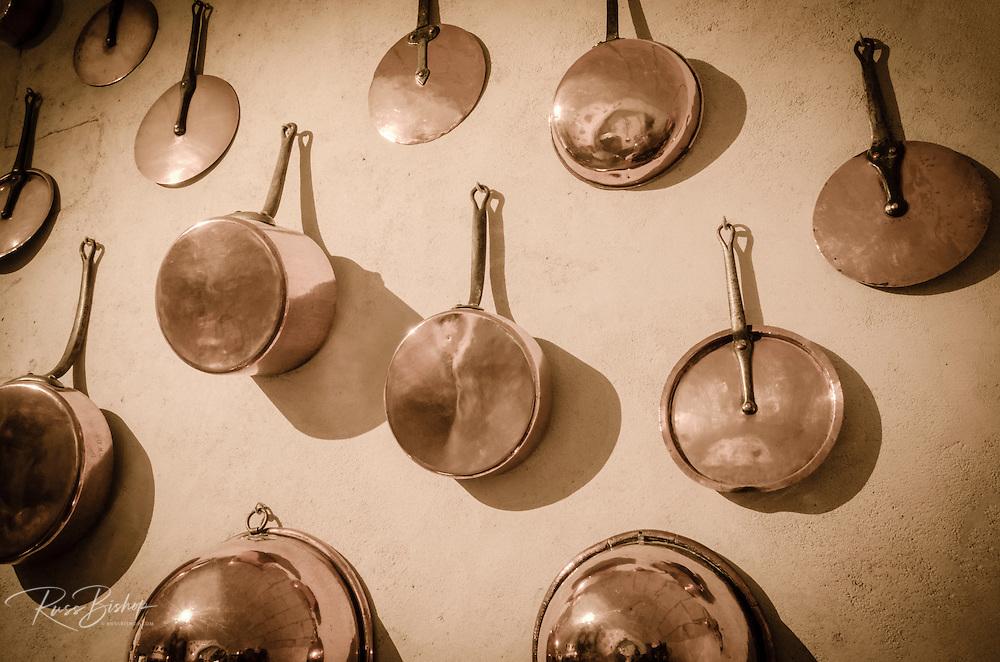Kitchen detail, Chateau de Chenonceau, Chenonceaux, Loire Valley, France