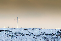 © Licensed to London News Pictures . Oldham , UK . FILE PICTURE DATED 12/01/2013 of moors over Oldham in the snow . Oldham has been named England's most deprived town by the Office for National Statistics today (18th March 2016) . Photo credit : Joel Goodman/LNP