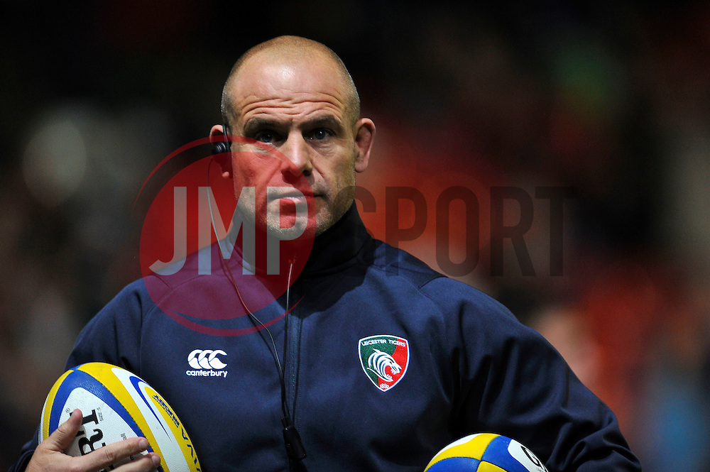 Leicester Tigers Director of Rugby Richard Cockerill looks on during the pre-match warm-up - Photo mandatory by-line: Patrick Khachfe/JMP - Mobile: 07966 386802 10/10/2014 - SPORT - RUGBY UNION - Leicester - Welford Road - Leicester Tigers v Harlequins - Aviva Premiership