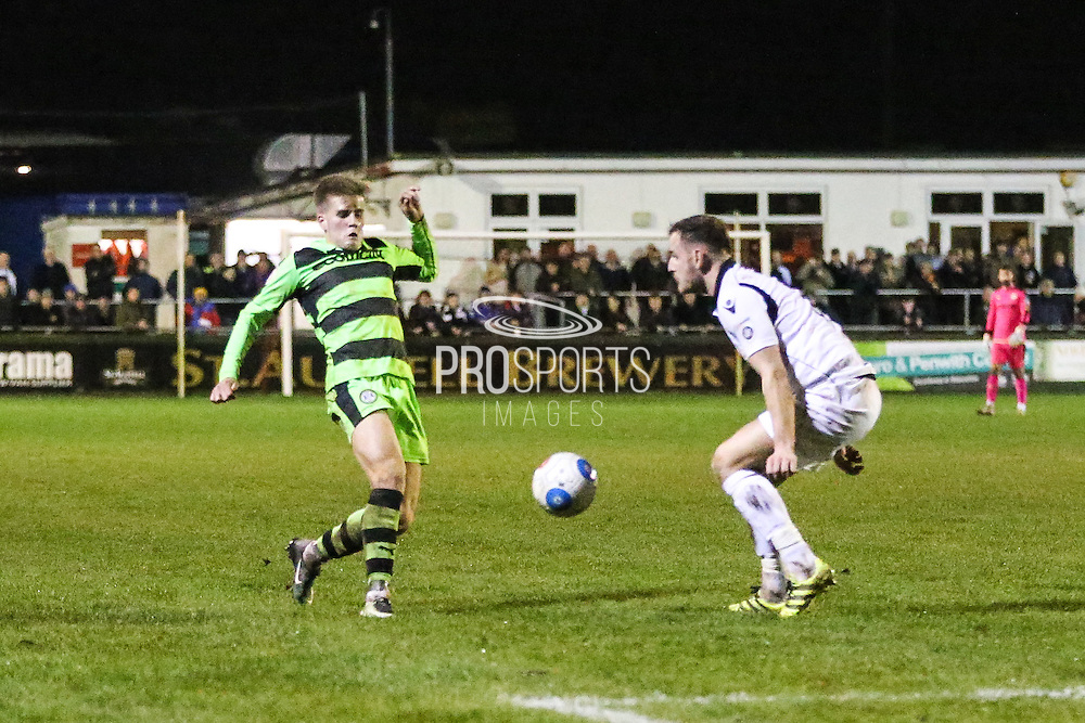 Forest Green Rovers Charlie Cooper(20) during the FA Trophy match between Truro City and Forest Green Rovers at Treyew Road, Truro, United Kingdom on 13 December 2016. Photo by Shane Healey.