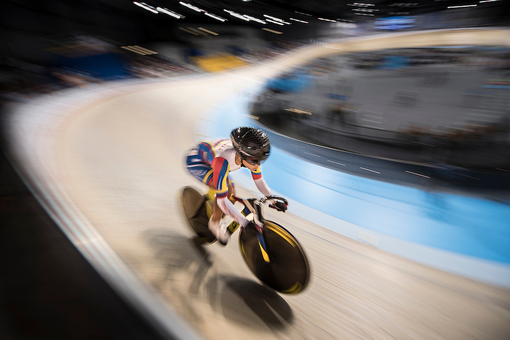 Track cycling competition at the 2015 PanAm Games in Toronto.
