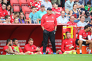 Charlton Athletic Head Coach Russell Slade looking on during the EFL Sky Bet Championship match between Charlton Athletic and Bolton Wanderers at The Valley, London, England on 27 August 2016. Photo by Matthew Redman.