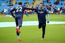 Manchester City players warm up wearing shirts in support of the injured Benjamin Mendy - Mandatory by-line: Matt McNulty/JMP - 14/10/2017 - FOOTBALL - Etihad Stadium - Manchester, England - Manchester City v Stoke City - Premier League