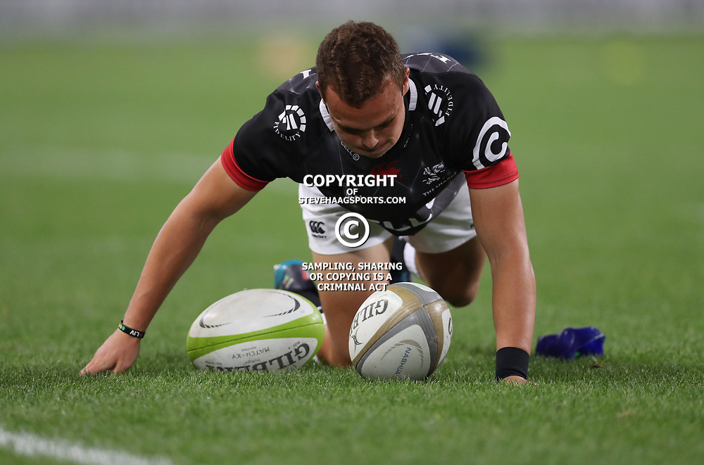DURBAN, SOUTH AFRICA - AUGUST 04: Curwin Bosch of the Cell C Sharks during the Currie Cup match between Cell C Sharks and Tafel Lager Griquas at Growthpoint Kings Park on August 04, 2017 in Durban, South Africa. (Photo by Steve Haag/Gallo Images)