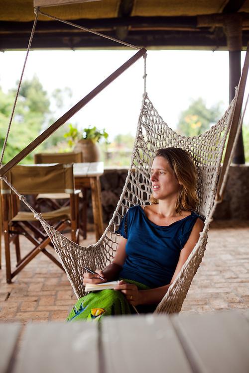 Writer Antonia Windsor at Virunga Lodge