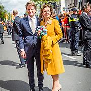 NLD/Tilburg/20170427- Koningsdag 2017, Pieter Christiaan en partner Anita van Eijk