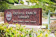 Foothill Ranch Library Monument