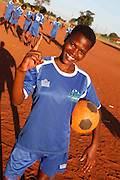 Mandinda Lufano Lucie of Khubvi girls football club. Khubivi Village. Nr Thohoyandou. Venda. Limpopo Province. South Africa. Action Aid/UK