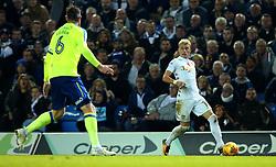 Ezgjan Alioski of Leeds United runs with the ball - Mandatory by-line: Robbie Stephenson/JMP - 31/10/2017 - FOOTBALL - Elland Road - Leeds, England - Leeds United v Derby County - Sky Bet Championship
