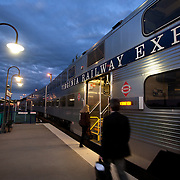 Commuters arrive at dawn to the VRE station at Broad Run to catch a train to Washington, DC.