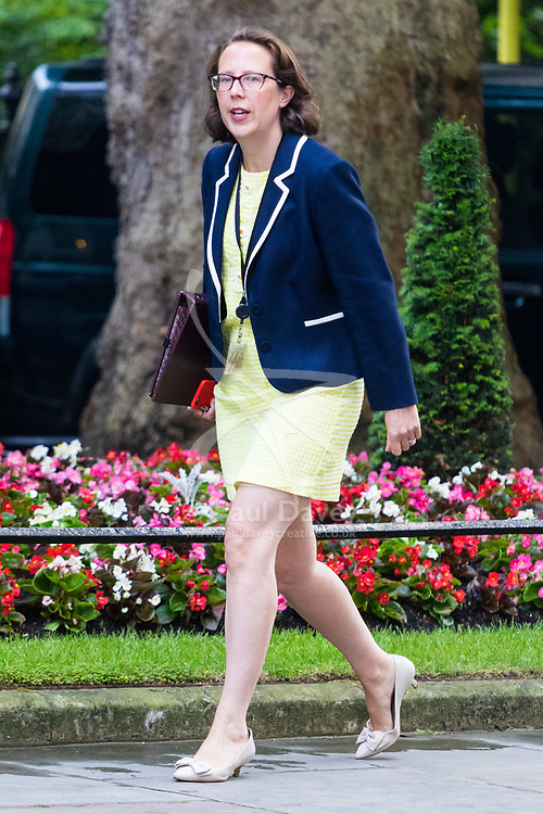 London, June 20th 2017. Lord Privy Seal and Leader of the House of Lords Baroness Natalie Evans  attends the weekly cabinet meeting at 10 Downing Street in London.