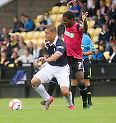 Leighton Mcintosh and Southend United's Anthony Grant - Dundee v Southend United - East Fife Tournament at New Bayview<br /> <br /> &copy; David Young<br /> <br /> <br /> http://www.davidyoungphoto.co.uk