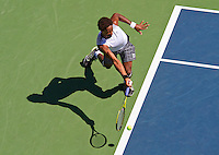 Gael Monfils plays in the U.S. Open.