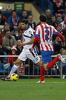 09.12.2012 SPAIN -  La Liga 12/13 Matchday 15th  match played between Atletico de Madrid vs R.C. Deportivo de la Courna (6-0) at Vicente Calderon stadium. The picture show Juan Carlos?Valeron (Player of R.C. Deportivo)