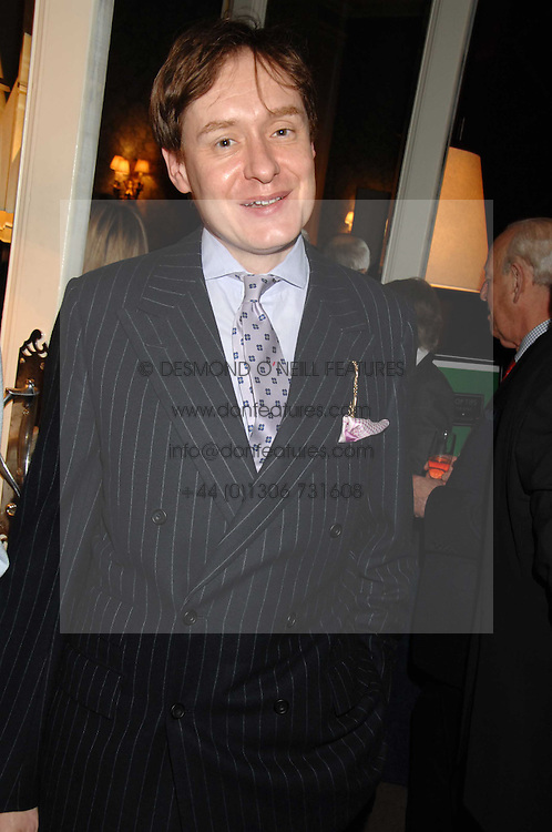 NICK FOULKES at a party to celebrate the publication of Top Tips For Girls by Kate Reardon held at Claridge's, Brook Street, London on 28th January 2008.<br /><br />NON EXCLUSIVE - WORLD RIGHTS