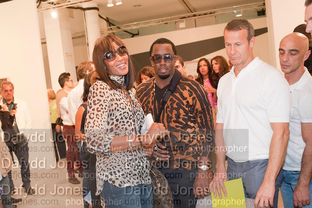 NAOMI CAMPBELL; SEAN COMBS; Opening of Miami Art Basel 2011, Miami Beach. 30 November 2011.