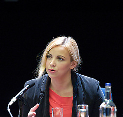 Charlotte Church speaking at the Hacked Off fringe meeting during the Conservative Party Conference, ICC, Birmingham, Great Britain, October 10, 2012. Photo by Elliott Franks / i-Images.