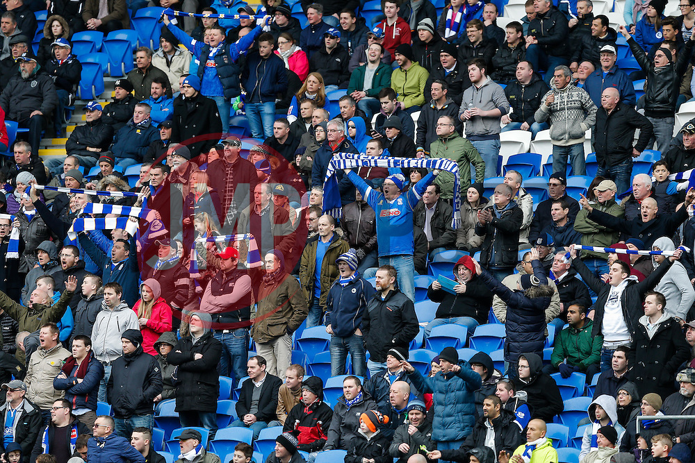 Cardiff City supporters - Photo mandatory by-line: Rogan Thomson/JMP - 07966 386802 - 28/02/2015 - SPORT - FOOTBALL - Cardiff, Wales - Cardiff City Stadium - Cardiff City v Wolverhampton Wanderers - Sky Bet Championship.
