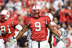 26 November 2005: Mario Williams (9) of the North Carolina State Wolfpack during a 14-20 victory over Maryland in Carter-Finley Stadium in Raleigh, NC.