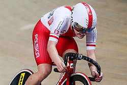 March 1, 2019 - Pruszkow, Poland - Daria Pikulik (POL) omnium tempo race on day three of the UCI Track Cycling World Championships held in the BGZ BNP Paribas Velodrome Arena on March 01, 2019 in Pruszkow, Poland. (Credit Image: © Foto Olimpik/NurPhoto via ZUMA Press)