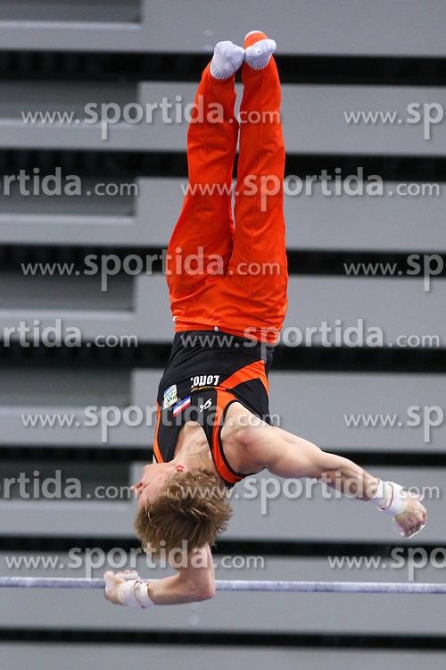 Epke Zonderland of Netherland in Horizontal Bar during Final of Artistic Gymnastics World Challenge Cup Ljubljana, on April 5, 2015 in Arena Stozice, Ljubljana, Slovenia. Photo by Morgan Kristan / Sportida