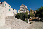Strairs leading to entrance of a magnificent cathedral. Sibenik. Croatia. Eastern Europe.