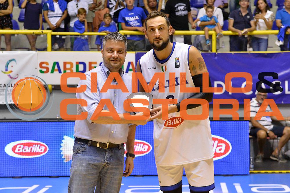 CAGLIARI 13 AGOSTO 2017<br /> Torneo di Cagliari Nazionale Italiana<br /> Italia - Turchia    Italy - Turkey<br /> NELLA FOTO Marco Belinelli<br /> FOTO CIAMILLO