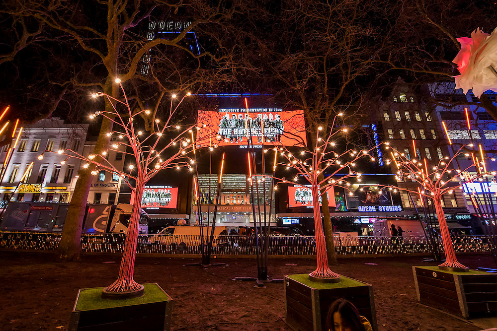Garden of Light<br /> by TILT in Leicester Square - Lumiere London: the 'biggest-ever' light festival to hit the capital.  Produced by Artichoke and supported by the Mayor of London, for four evenings in January a host of international artists illuminate the city from 6:30pm to 10:30pm each night.  Iconic architecture has been transformed with 3D projections, interactive installations and other extraordinary light works.